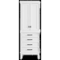 """Avanity Madison 24"""" Linen Tower, White Finish"""