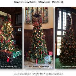 Commercial Interior Christmas Design and Decor. 3 photos. Restaurant Christmas Lights Charlotte NC
