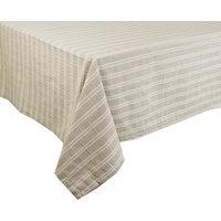 Classic Plaid Woven Linen Cotton Tablecloth, Khaki, 55x55