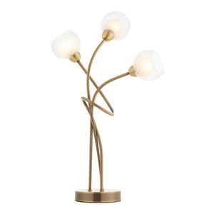 Lonsdale 3-Light Table Lamp, Antique Brass