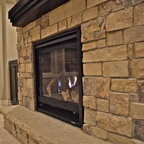 Floor To Ceiling Fireplace Contemporary Living Room