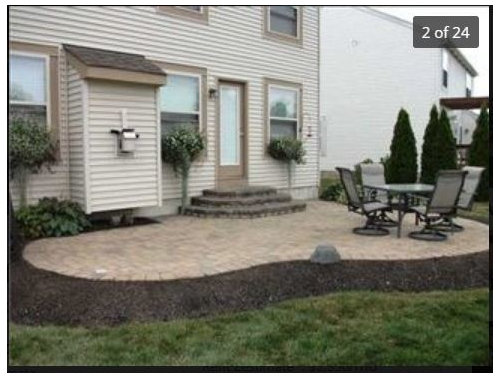 Replacing Mulch Bed Around Patio