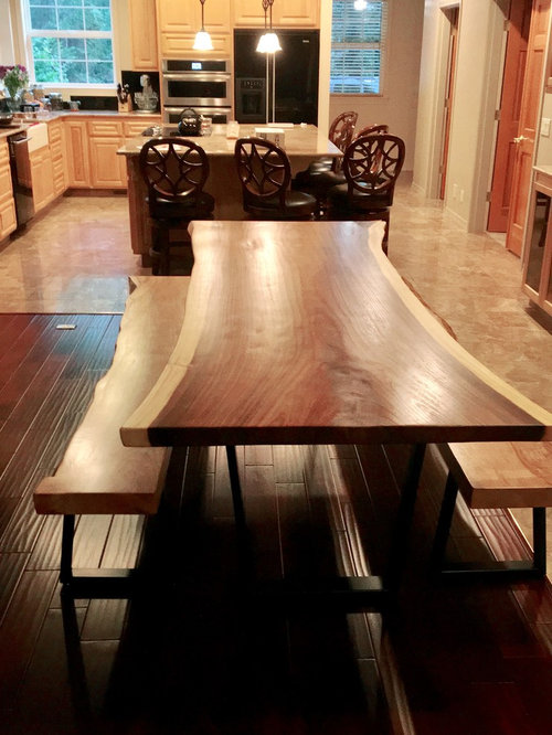 Looks Like Picnic Table In Living Room, Picnic Table Dining Room