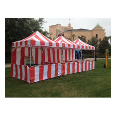Carnival Instant Canopy Ez Pop Up With Sidewalls And Front Service Rail, 8'x8'
