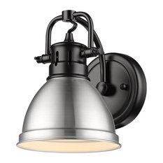 Golden Lighting 3602-BA1 BLK-PW Duncan - 1 Light Bath Vanity