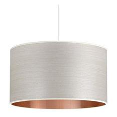 Silver Birch and Copper Wood Veneer Drum Lampshade, 40 cm