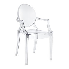 Modern Louis-Style Acrylic Ghost Armchairs, Set of 4