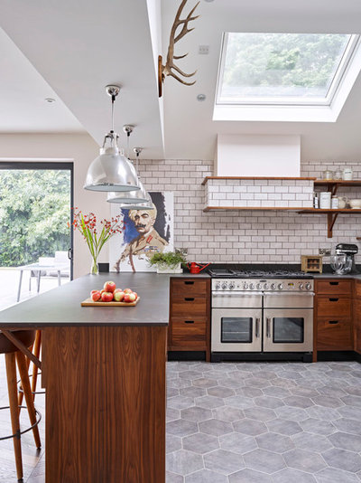 Kitchen tour a scandinavian style space with a walk in pantry for Secret drawer kitchens