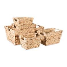 DII Water Hyacinth Basket, Set of 5