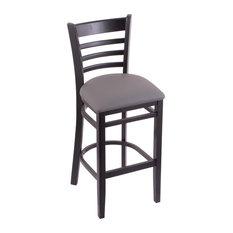 Holland Bar Stool 3140 30 Stool Black Finish Allante Medium Gray Seat
