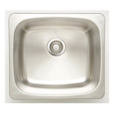 Undermount Laundry Sink for Wall Mount Faucet in Chrome
