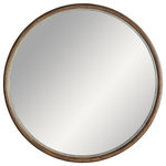 Arteriors Home - Lesley Large Mirror, Light Walnut - Neutral yet stoic, the Lesley Mirror's light-walnut frame and plain mirror bring peace of mind with seamless symmetry. Features a security cleat attachment. Finish may vary.