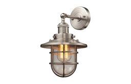 Seaport 1-Light Sconce, Satin Nickel