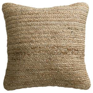 Rishu Jute Cushion, Natural