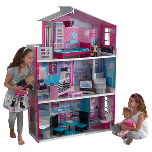 Melissa Doug Multi Level Wooden Dollhouse Kids Toys And Games