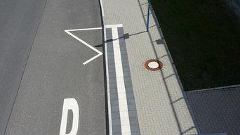 Schierke, Winterbergtor Parkplatz mit Betonpflaster gestaltet