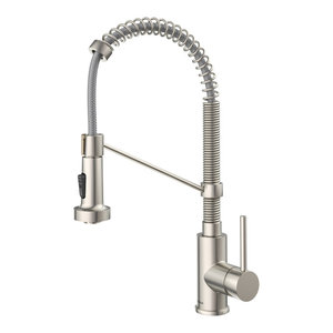 Kraus Bolden Commercial Kitchen Faucet SS, Dual Function Pull-Down Sprayhead