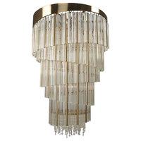 Allegri Espirali 15 Light Foyer, Champagne Gold, Clear