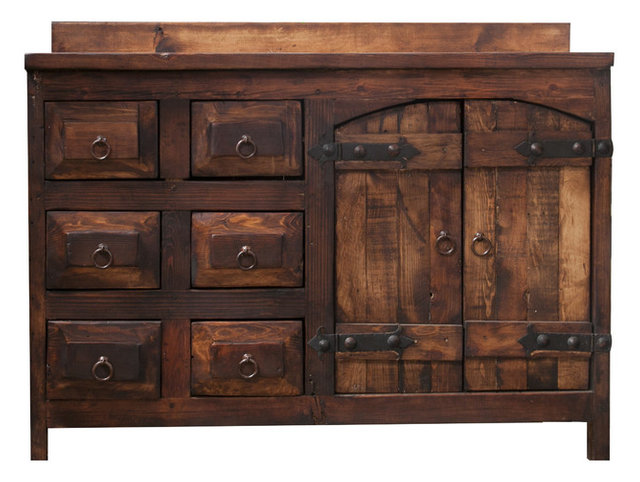 Old World Rustic Vanity Right Sink
