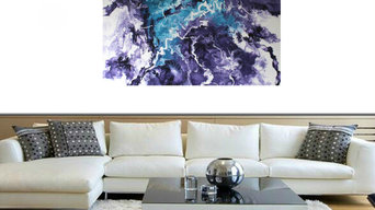 Fluid abstract painting 'Impulsion II'