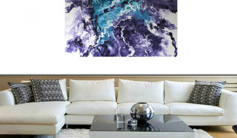 Fluid abstract painting 'Impulsion II'