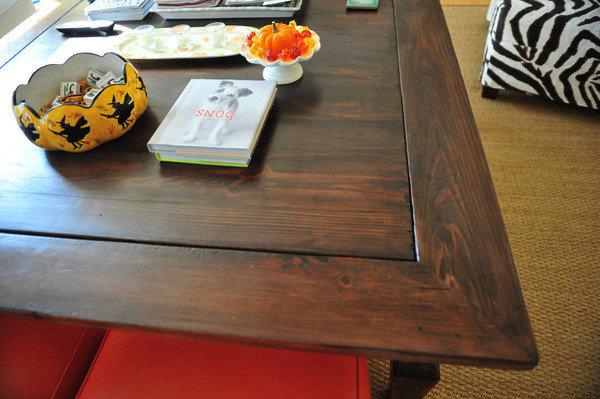 Custom Coffee Table & Lee Industries Ottoman