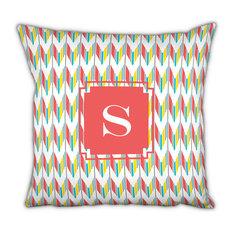 Square Pillow Arrowhead Single Initial, Letter Q