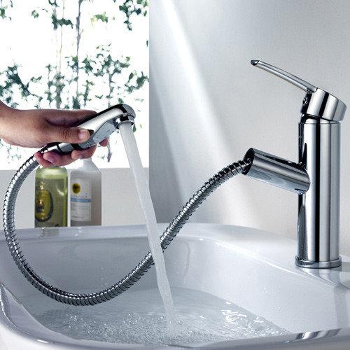Basin Taps. Bathroom Sink Faucet Spraying Water   Rukinet com