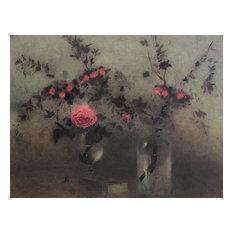 Roses, Offset Lithograph, Kaiko Moti