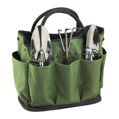 Picnic At Ascot   Gardening Tote With Tools, Eco Green   Gardening  Accessories