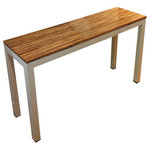 """Responde - Sustain Bamboo Console Table, Natural Top, 30""""x15.5""""x51.5"""", Espresso Frame - This handsomely crafted Parsons-style console table is strong, attractive and sensitive to the environment.  It features a bamboo table top over a durable aluminum frame and is built to last."""