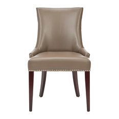 Safavieh - Becca Dining Chair With Silver Nail Heads Clay Material Leather -  sc 1 st  Houzz & 50 Most Popular Leather Dining Room Chairs for 2018 | Houzz