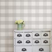 WallPops Farmhouse Gray Plaid Peel and Stick Wallpaper, Roll