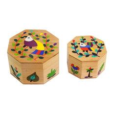 Gods Nature Wood Decorative Boxes, 2-Piece Set