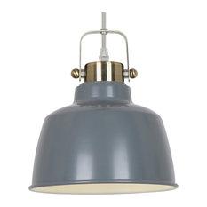 Light Society   Mercer Pendant Lamp, Gray   Pendant Lighting