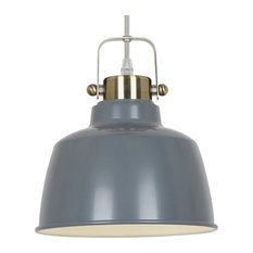 Superbe Light Society   Mercer Pendant Lamp, Gray   Pendant Lighting