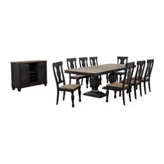 Millbrook 10-Piece Dining Room Set With Table 8  Fiddleback Chairs & Buffet