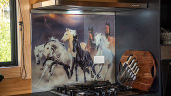 running horses kitchen splashback