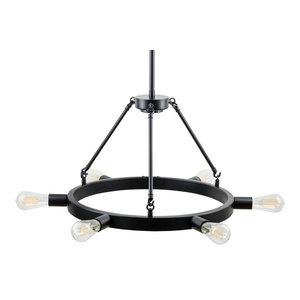 Sonoro Horizontal Light Industrial Round Chandelier