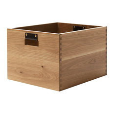 Dovetail Record Crate Natural Oak