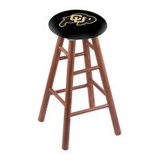 Oak Extra Tall Bar Stool Medium Finish With Colorado Seat 36-inch