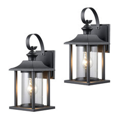 Traditional outdoor wall lights and sconces for your home houzz hardware house textured black outdoor patio exterior light fixture set of 2 23 aloadofball Image collections