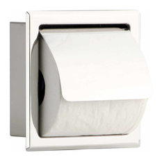 Stainless Steel Recessed Toilet Tissue Holder With Lid