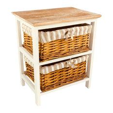 Wooden Storage Cabinet With 2 Baskets
