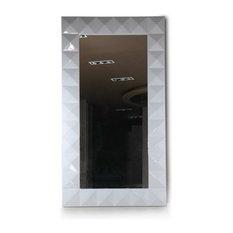 Versus Eva Vertical Standing White Lacquer Floor Mirror