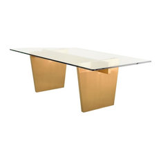 Patrick Dining Table Clear Gold 94-inch