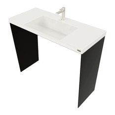 "40"" Contempo Vanity With Concrete Ramp Sink, White Linen"