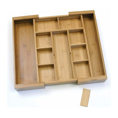 Lipper International   Bamboo Expandable Organizer With Removable Dividers    Kitchen Drawer Organizers