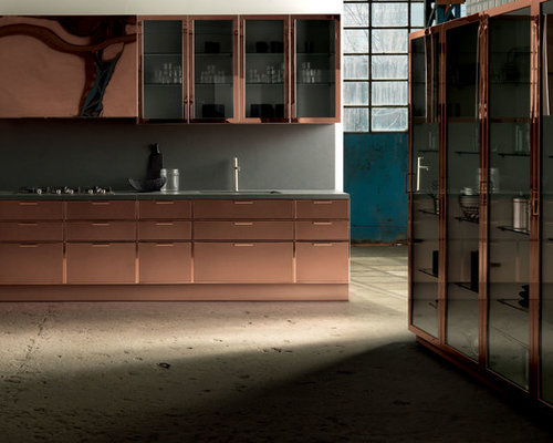 copper kitchen cabinets