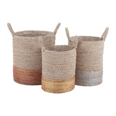 Dimond Home Mixed Metallic Nested Baskets, 3-Piece Set